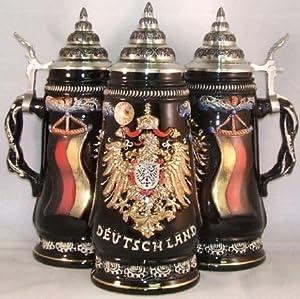 King-Werks Deutschland Gold Eagle German Beer Stein 0.5 Liter from King-Werks