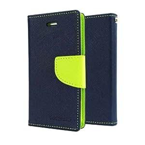 Mercury Fancy Wallet Dairy Flip Case Cover for Reliance Jio LYF Wind 4 - (BLU...