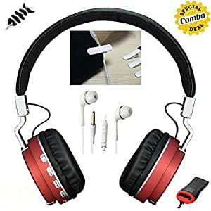 Bluetooth Headset + Card Reader + Earphone + Earphone Headphone Clip + Cable Wraper 5 IN ONE COMBO OFFER