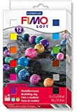 Staedtler Fimo Soft 8023 01 Oven Hardening Modelling Clay 12 x 25g Half Blocks - Assorted Colours