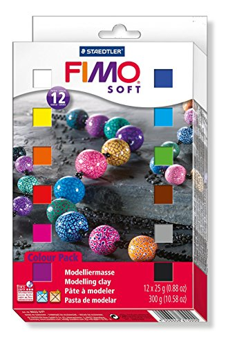 Staedtler Fimo Soft 802301 - Paquete de 12 x 25 g bloques de masa para moldear