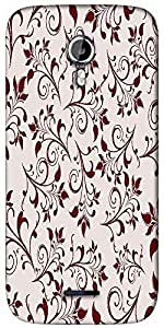 Snoogg seamless floral pattern abstract background Designer Protective Back Case Cover For Micromax A117
