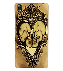 ColourCraft Funny Skulls Design Back Case Cover for LENOVO A7000 PLUS