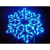 SNOWFLAKE 18-INCH PATTERN A. BLUE. CHRISTMAS LIGHTS. CHRISTMAS DECORATION YARD LIGHTS ~ ORANGE TREE TRADE