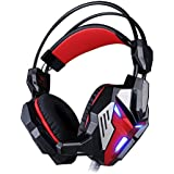KOTION EACH G3100 HiFi Over-ear Vibration Game Headset Earphone Headband Gaming Headphone With Mic Deep Bass LED...