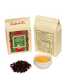 TopQualiTea Organic Darjeeling Green Tea Leaves - 100gm