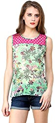 ShilpKala Women's Sleeveless Top (skt3012l, Green, Large)