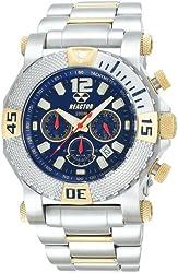 REACTOR Men's 93103 Neutron Chronograph Ocean Blue Dial Two-Tone Watch
