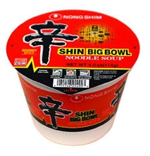 Nong Shim Shin Big Bowl Noodle, 4-Ounce Bowls (Pack of 12)