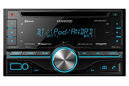 Kenwood Double Din CD Receiver with Built in Bluetooth DPX501BT