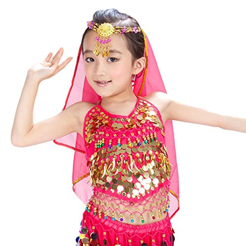AveryDance Belly Dance Kids Head Chain with Veil Costume Set