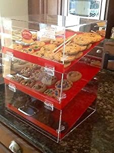 Display case for cookies brownies muffins desserts money maker
