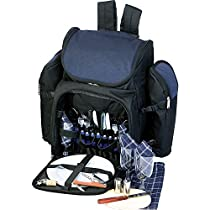 Picnic Plus Tandoor 4-Person Deluxe Picnic Basket Backpack