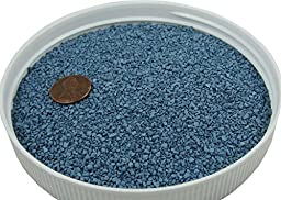 Blue Fine Gravel 20 lbs - Safe for Sandboxes, Substrate and Landscaping