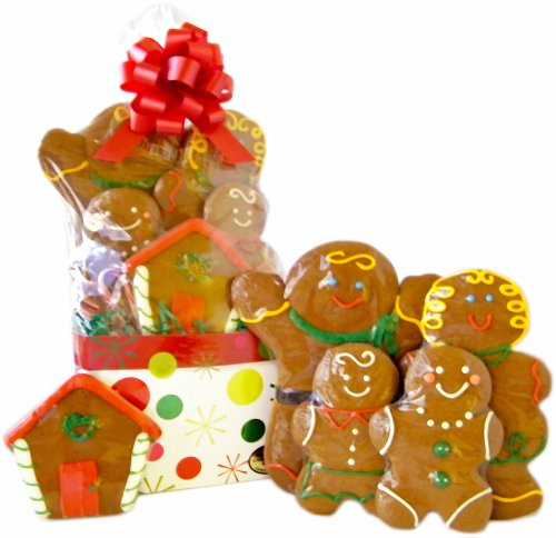 Gingerbread Family Cookie Gift Basket