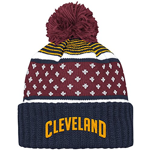 Mitchell And Ness Nba Highlands Cuffed Knit Hat With Pom CAVALIERS (Cavaliers Merchandise compare prices)