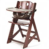 Keekaroo Height Right Highchair with Insert & Tray - Mahogany - Chocolate ~ Keekaroo
