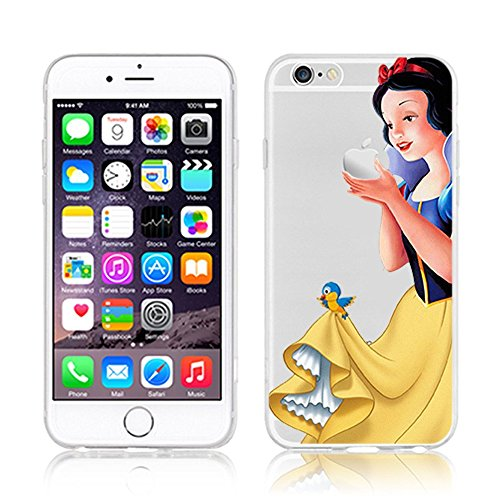 Disney PRINCESS trasparente in poliuretano termoplastico per iPhone-Cover per Apple iPhone 5, 5S, 5C, 6/6S plastica, (iphone 6/6s, Snowwhite)