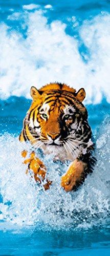 Kiss - Poster murale con foto di una tigre, 200 x 86 cm Senza cornice