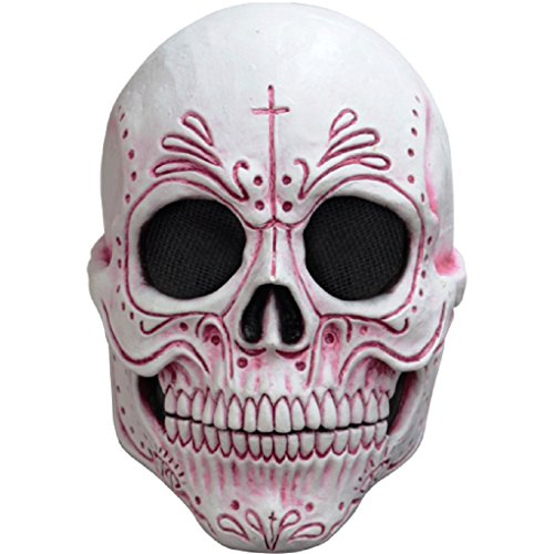 [Mexican Catrina Sugar Skull - Latex Mask] (Catrina Sugar Skull Costume)