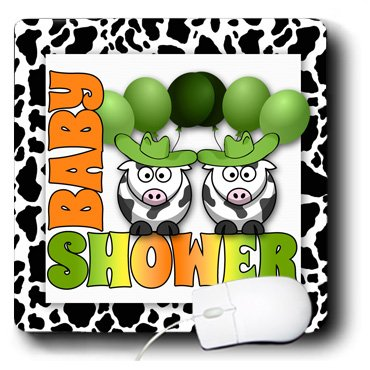 Mp_173034_1 Doreen Erhardt Baby Designs - Twins Green Gender Neutral Baby Shower Western Theme - Mouse Pads front-232599