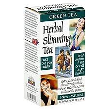 21st Century Herbal Slimming Tea, Caffeine Free, Green Tea, 24 tea bags 1.6 oz (45 g)