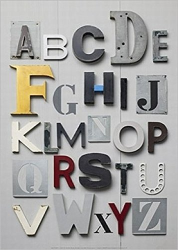 Schule - Alphabet Poster Kunstdruck