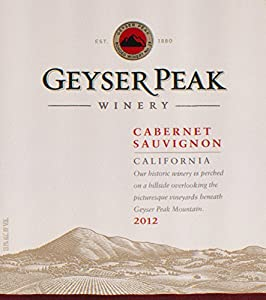 2012 Geyser Peak California Cabernet Sauvignon 750 mL