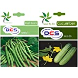 DCS Bush Beans And Cucumber Seeds (pack Of 2 Per Pack 50)
