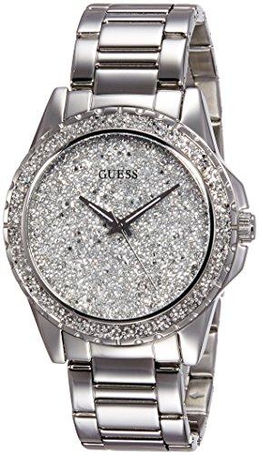 Guess Analog Silver Dial Women's Watch - W0651L1 (Guess Analog Silver Dial compare prices)