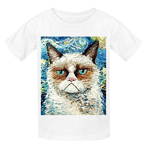 Grumpy Cat Is Still Grumpy Girls Crew Neck Personalized T-shirt White
