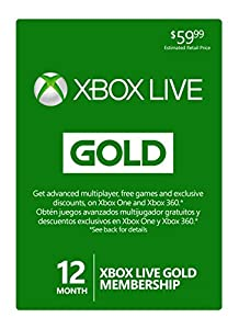 Xbox Live 12 Month Gold Membership [Online Game Code]