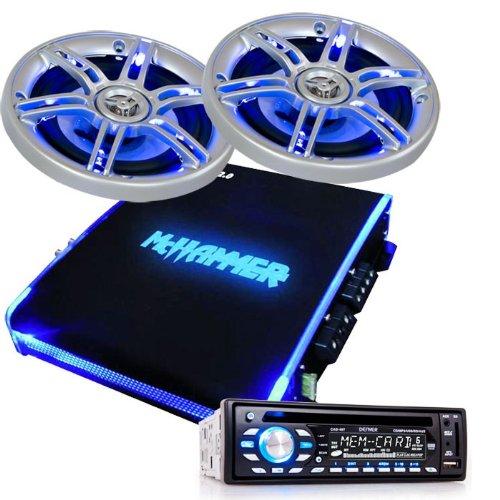 1350W Auto Musikanlage Endstufe Boxen CD MP3