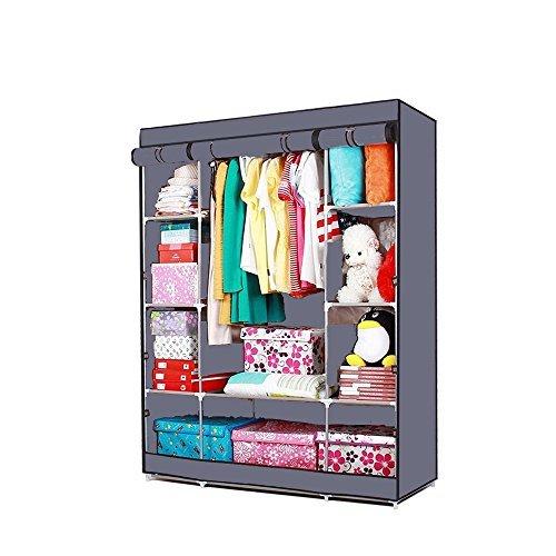 mervy-armoire-etagere-dressing-en-tissus-pour-vetements-chaussures-150x45x180cm-n1-gris