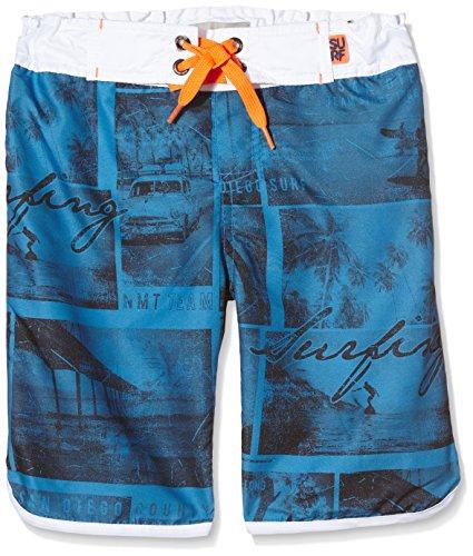 NAME IT NITZAN KIDS SURF SHORTS 216-Pantaloncini da bagno Bambino    Multicolore (Bright White) 152