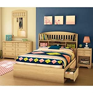 Popular Bedroom Set With Full Size Bookcase Bed By South Shore Furniture