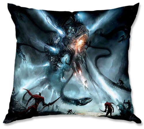 Decorative Woven Couch / Throw Pillow From Dianoche Designs By Alex Ruiz Unique Bedroom, Living Room And Bathroom Ideas - Mech Dragon Battle