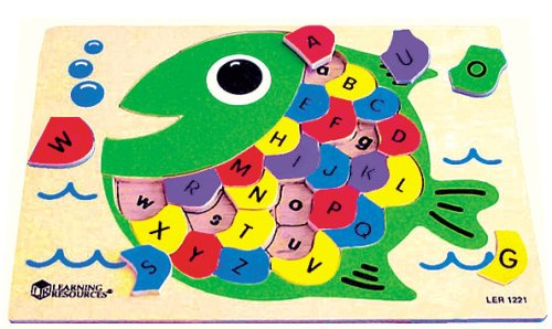 Learning Resources Woodshop Toys™ Fish Alphabet Puzzle - Buy Learning Resources Woodshop Toys™ Fish Alphabet Puzzle - Purchase Learning Resources Woodshop Toys™ Fish Alphabet Puzzle (Learning Resources, Toys & Games,Categories,Preschool,Pre-Kindergarten Toys,Puzzles)