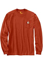 Carhartt Men's Workwear Pocket Long Sleeve T-Shirt Midweight Jersey Original Fit K126