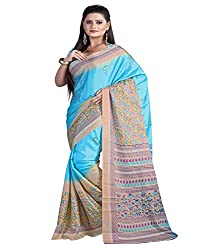 SB Creations Women's Turcky Silk Saree (SB_098_Multi)