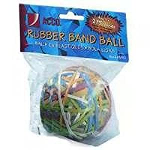 ACCO Rubber Band Ball, 275 Bands per Ball, Assorted Colors (A7072153)