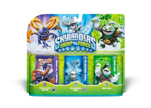 Skylanders SWAP Force Triple Character Pack - Mega Ram Spyro - Blizzard Chill - Zoo Lou