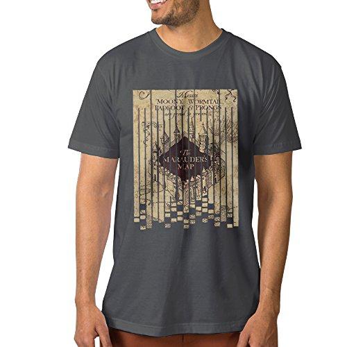 PTCYM HARRY HP MARAUDER Map Custom Men's T Shirt S DeepHeather