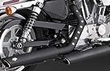 """46839 バンス&ハインズ '04以降 スポーツスター ツインスラッシュ 3インチ スリップオンマフラー ブラック TWIN SLASH 3"""" SLIP-ONS BLACK 1801-0403 [並行輸入品]"""