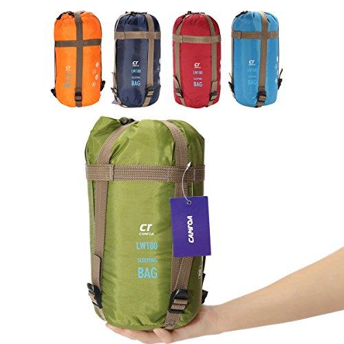 Busta Sacco a pelo,CAMTOA Ultra Leggero Portatile Impermeabile Traspirante Sleeping Bag in Cotone TC & Nylon 320D Per Campeggio Arrampicata All'aperto