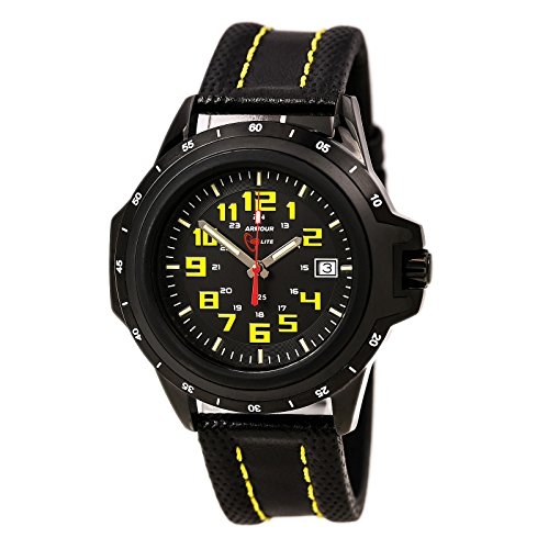 Armourlite Colorburst Shatterproof Scratch proof Glass Yellow Tritium Watch 10 Year Battery AL209