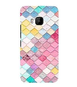 EPICCASE Anglular Patterns Mobile Back Case Cover For HTC One M9 (Designer Case)