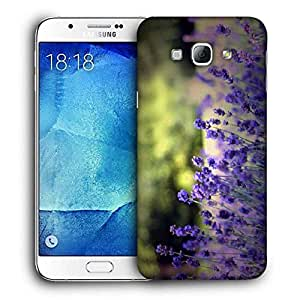 Snoogg Colordul Flower Printed Protective Phone Back Case Cover For Samsung Galaxy A8