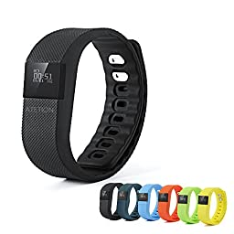ATETION TW64 Smart Watch Bluetooth Watch Bracelet Smart band Calorie Counter Wireless Pedometer Sport Activity Tracker For iPhone Samsung Android IOS Phone (black)