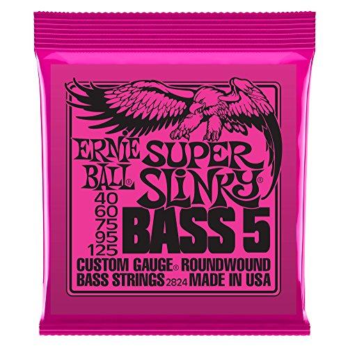 Ernie Ball 2824 Super Slinky 5-String Nickel Wound Bass Set (40 - 125)
